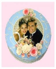 PHOTO WEDDING or ANNIVERSARY CAKE - 1 KG