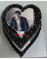 Heart Shape  Photo Cake - 1 KG