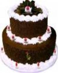 2 Tier Black Forest Cake - 3 KG