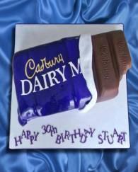 Dairy Milk Fondant Cake - 1.5 KG