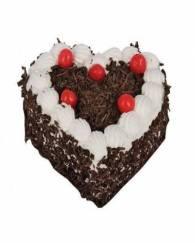 Rich Heart Shape Blackforest Cake