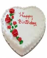 Heart Shape Vanilla Cake