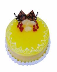 Pineapple fresh cream cake