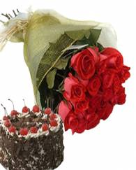 Rose With Black Forest Cake