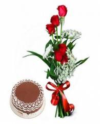 Red Rose and Cake