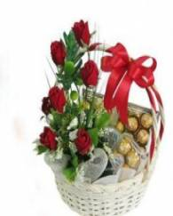 Chocolate with Rose Basket