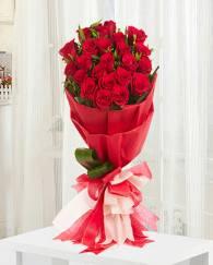Romantic 15 Rose Bunch