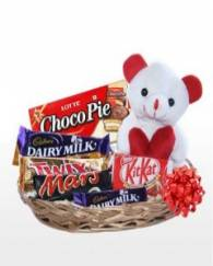 Chocolate Teddy basket