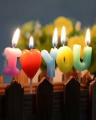 I Love You Letter Happy Birthday Candles