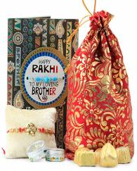 HANDMADE CHOCOLATES WITH BEAUTIFUL RAKHI
