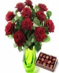 Rose with Branded Chocolate