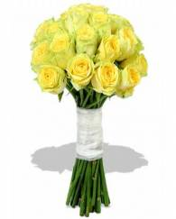 Hand Tied Yellow Rose Bunch