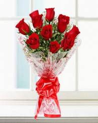 10 Red Rose Bunch