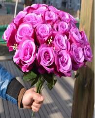 Silk Rose Bunch Flower
