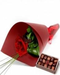 Rose and Branded Choclate