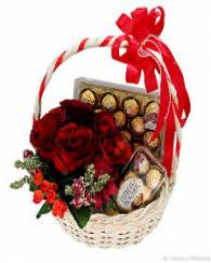 Chocolate Basket with Rose