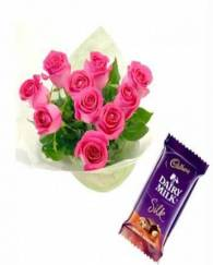 Pink Rose and chocolate