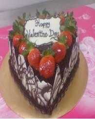 Romantic chocolate valentine cake