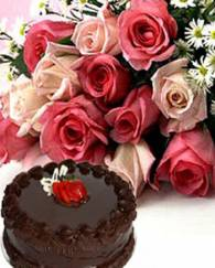 Cake And Rose Pink Combo